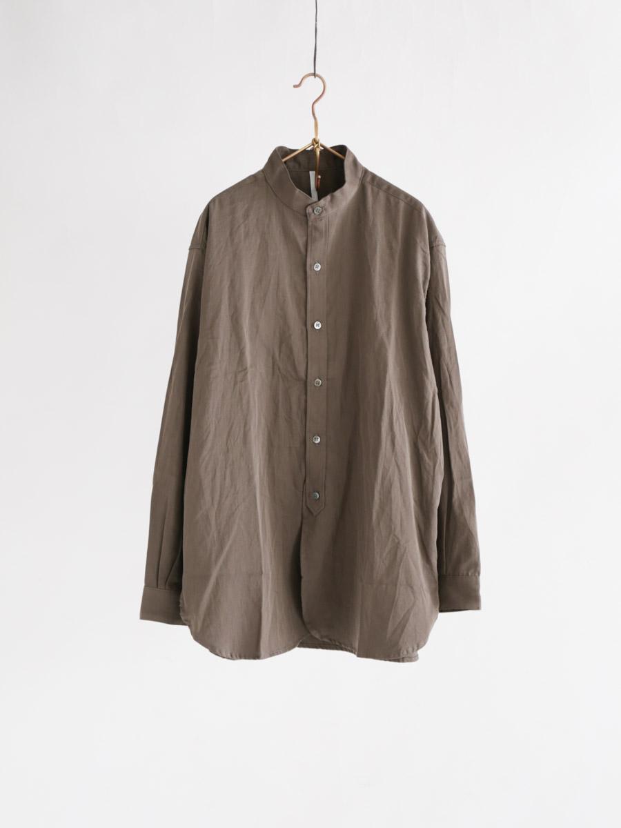 スーピマサテン120/2コットンスタンドシャツ