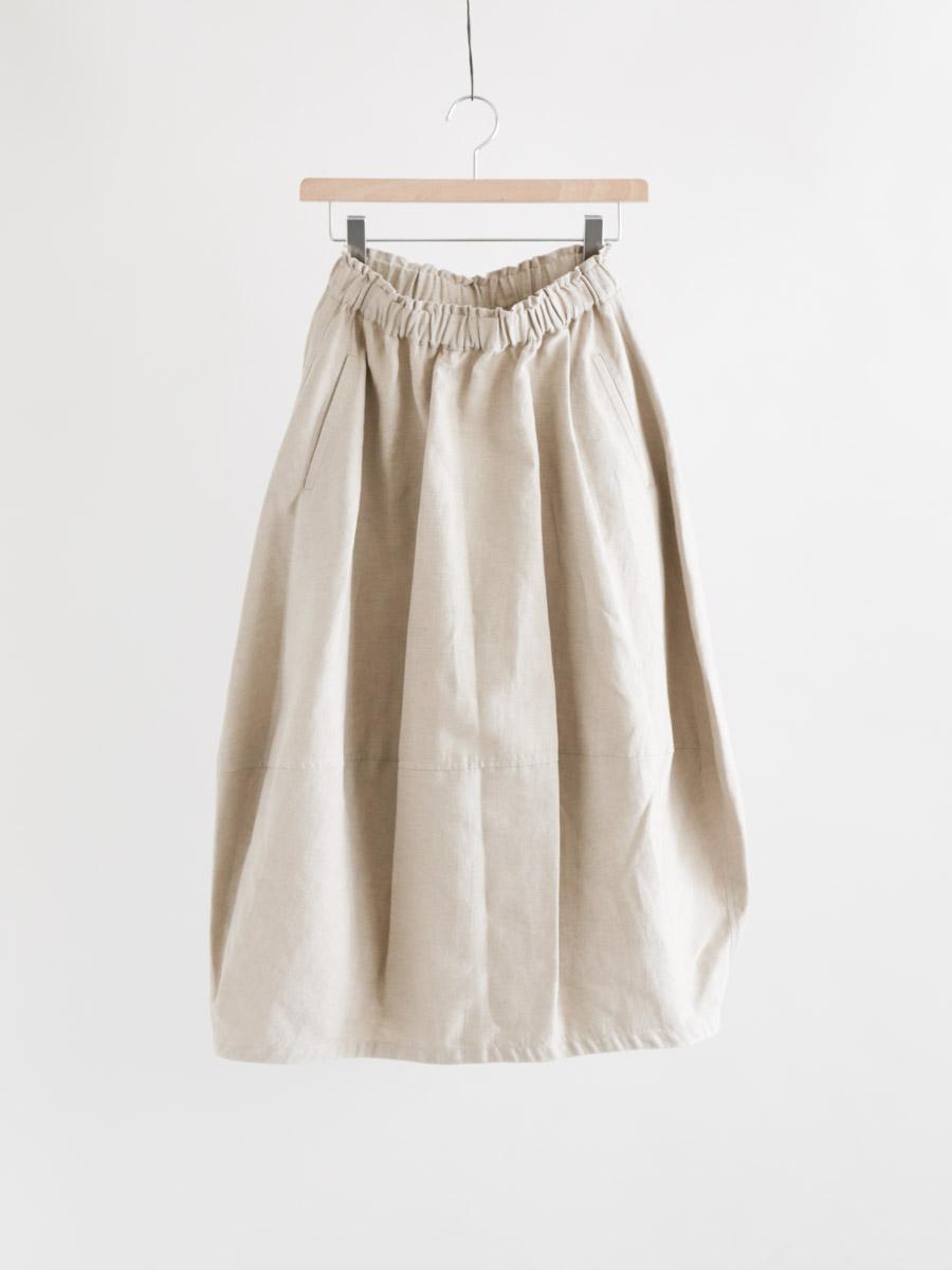綿麻朱子織バルーンスカート